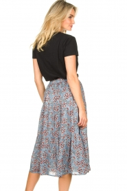 Lolly's Laundry :  Maxi skirt with floral print Morning | blue - img6