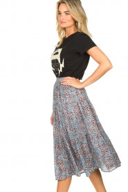 Lolly's Laundry :  Maxi skirt with floral print Morning | blue - img5