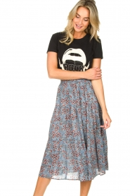 Lolly's Laundry :  Maxi skirt with floral print Morning | blue - img4