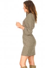 Second Female   Geruite jurk met pofmouwen Hulana   zwart    Afbeelding 6