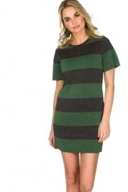 NIKKIE | Glinsterende jurk Jolien | groen  | Afbeelding 2