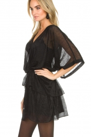 IRO |  Dress with glitter details Wide | black  | Picture 4