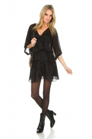IRO |  Dress with glitter details Wide | black  | Picture 3