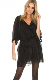 IRO |  Dress with glitter details Wide | black  | Picture 2
