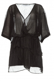 IRO |  Dress with glitter details Wide | black  | Picture 1