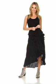 IRO |  Wrap skirt with ruffles Milou | black  | Picture 2