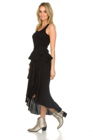 IRO |  Wrap skirt with ruffles Milou | black  | Picture 4