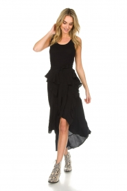 IRO |  Wrap skirt with ruffles Milou | black  | Picture 3