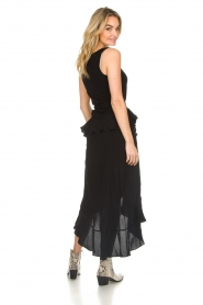 IRO |  Wrap skirt with ruffles Milou | black  | Picture 5
