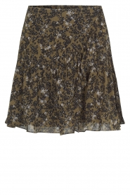 Second Female |  Skirt with floral print Simone | black  | Picture 1