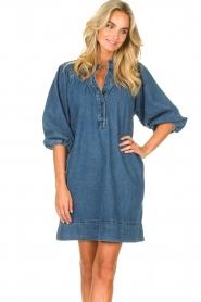 Second Female | Denim jurk Jeanie | blauw  | Afbeelding 4