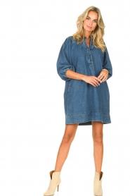 Second Female | Denim jurk Jeanie | blauw  | Afbeelding 3