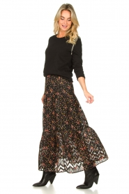 Lolly's Laundry |  Floral skirt Bonny | black  | Picture 5