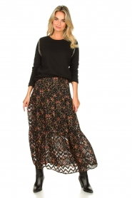 Lolly's Laundry |  Floral skirt Bonny | black  | Picture 2