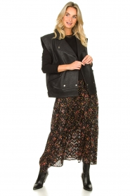 Lolly's Laundry |  Floral skirt Bonny | black  | Picture 3