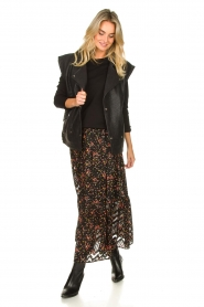 Lolly's Laundry |  Floral skirt Bonny | black  | Picture 4
