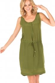 Dante 6 | Zijden jurk Joella | groen  | Afbeelding 2