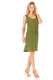 Dante 6 | Zijden jurk Joella | groen  | Afbeelding 3