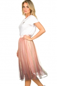Lolly's Laundry |  Midi pleated skirt Milton | pink  | Picture 6