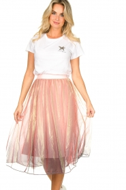 Lolly's Laundry |  Midi pleated skirt Milton | pink  | Picture 4