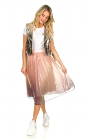Lolly's Laundry |  Midi pleated skirt Milton | pink  | Picture 3