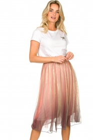 Lolly's Laundry |  Midi pleated skirt Milton | pink  | Picture 2