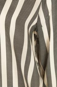 Dante 6 | Maxi blousejurk Yoko | zwart/wit  | Afbeelding 6