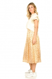 Lolly's Laundry |  Printed midi skirt Cokko | naturel  | Picture 5