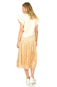Lolly's Laundry |  Printed midi skirt Cokko | naturel  | Picture 6