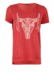 T-shirt Dawn | rood