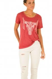 IKKS | T-shirt Dawn | rood  | Afbeelding 2