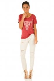 IKKS | T-shirt Dawn | rood  | Afbeelding 3