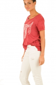 IKKS | T-shirt Dawn | rood  | Afbeelding 4