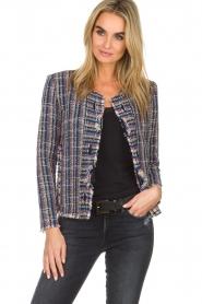 IRO |  Boucle jacket Frannie | blue  | Picture 2