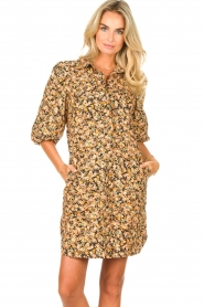 Second Female |  Dress with floral print Mayda | black  | Picture 2