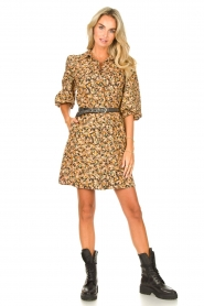 Second Female |  Dress with floral print Mayda | black  | Picture 3