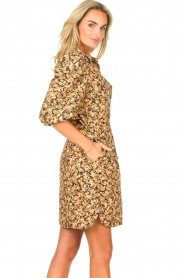 Second Female |  Dress with floral print Mayda | black  | Picture 6