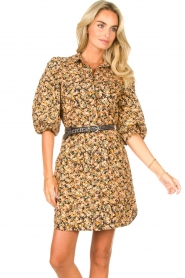 Second Female |  Dress with floral print Mayda | black  | Picture 4