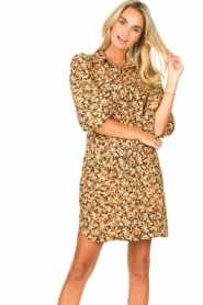 Second Female |  Dress with floral print Mayda | black  | Picture 5