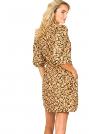 Second Female |  Dress with floral print Mayda | black  | Picture 7