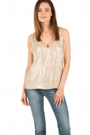 Hunkydory | Pailletten top Clayton | goud  | Afbeelding 2