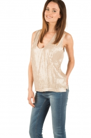 Hunkydory | Pailletten top Clayton | goud  | Afbeelding 4