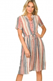 Lolly's Laundry |  Striped dress Sandra | multi  | Picture 4