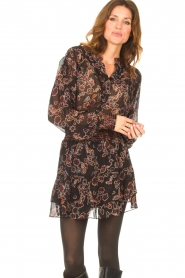 Second Female |  Blouse with floral print Miao | black  | Picture 4