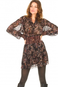 Second Female |  Blouse with floral print Miao | black  | Picture 5