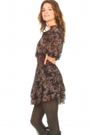 Second Female |  Blouse with floral print Miao | black  | Picture 6