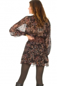 Second Female |  Blouse with floral print Miao | black  | Picture 7