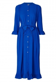 Lolly's Laundry |  Ruffled maxi dress Harper | blue  | Picture 1