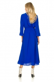 Lolly's Laundry |  Ruffled maxi dress Harper | blue  | Picture 7