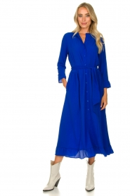 Lolly's Laundry |  Ruffled maxi dress Harper | blue  | Picture 2